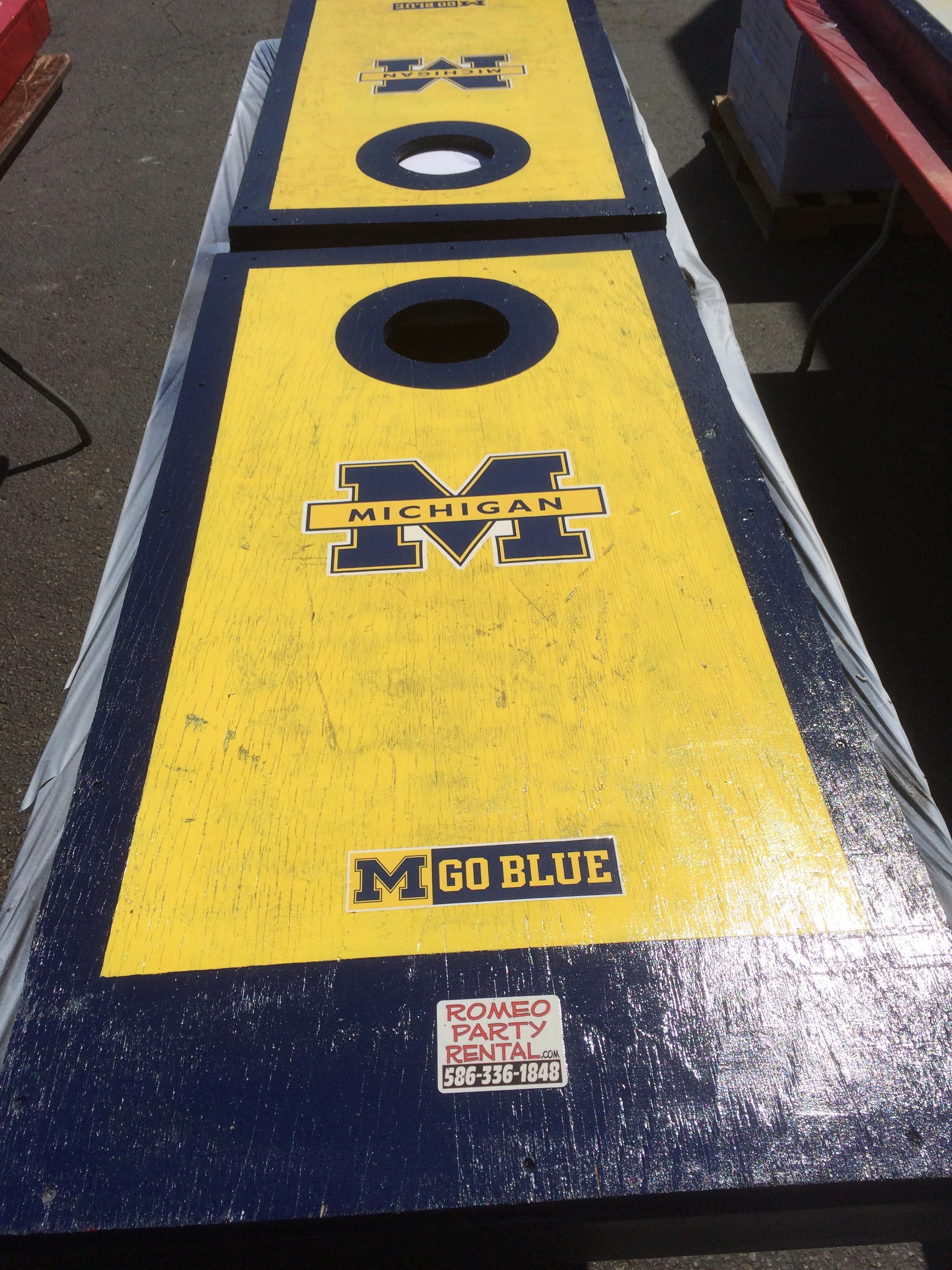 University of Michigan Cornhole Board