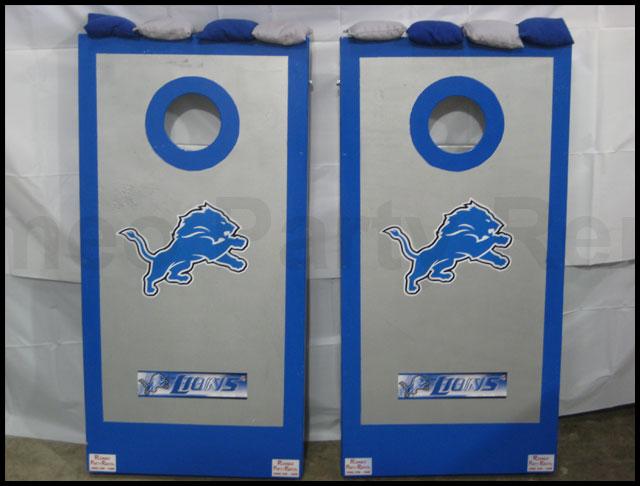 Detroit Lions Cornhole Board